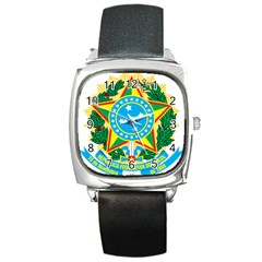 Coat of Arms of Brazil, 1971-1992 Square Metal Watch