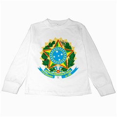 Coat of Arms of Brazil, 1971-1992 Kids Long Sleeve T-Shirts