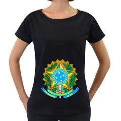 Coat of Arms of Brazil, 1971-1992 Women s Loose-Fit T-Shirt (Black)