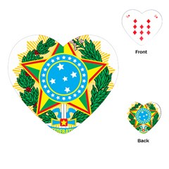 Coat of Arms of Brazil, 1971-1992 Playing Cards (Heart)