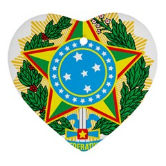 Coat of Arms of Brazil, 1971-1992 Heart Ornament (2 Sides)