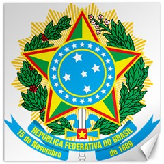 Coat of Arms of Brazil, 1971-1992 Canvas 16  x 16