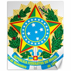 Coat of Arms of Brazil, 1971-1992 Canvas 16  x 20