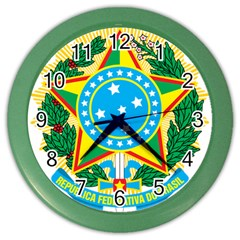 Coat of Arms of Brazil, 1971-1992 Color Wall Clocks