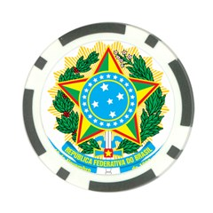 Coat of Arms of Brazil, 1971-1992 Poker Chip Card Guards