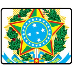 Coat of Arms of Brazil, 1971-1992 Fleece Blanket (Medium)