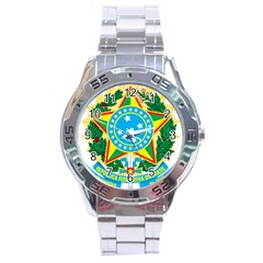 Coat of Arms of Brazil, 1971-1992 Stainless Steel Analogue Watch