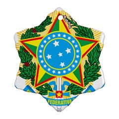 Coat of Arms of Brazil, 1971-1992 Snowflake Ornament (2-Side)
