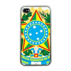 Coat of Arms of Brazil, 1971-1992 Apple iPhone 4 Case (Clear)