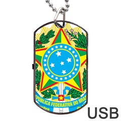 Coat of Arms of Brazil, 1971-1992 Dog Tag USB Flash (One Side)