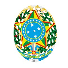 Coat of Arms of Brazil, 1971-1992 Oval Filigree Ornament (2-Side)