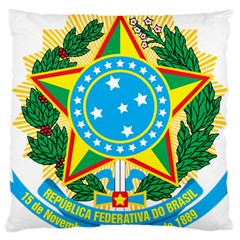 Coat of Arms of Brazil, 1971-1992 Large Cushion Case (Two Sides)