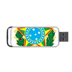 Coat of Arms of Brazil, 1971-1992 Portable USB Flash (One Side)
