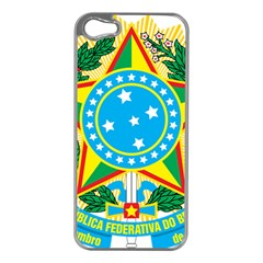 Coat of Arms of Brazil, 1971-1992 Apple iPhone 5 Case (Silver)