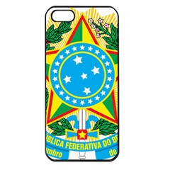 Coat of Arms of Brazil, 1971-1992 Apple iPhone 5 Seamless Case (Black)