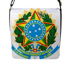 Coat of Arms of Brazil, 1971-1992 Flap Messenger Bag (L)