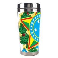 Coat of Arms of Brazil, 1971-1992 Stainless Steel Travel Tumblers