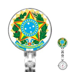 Coat of Arms of Brazil, 1971-1992 Stainless Steel Nurses Watch