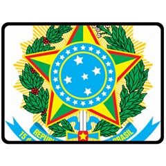 Coat of Arms of Brazil, 1971-1992 Double Sided Fleece Blanket (Large)