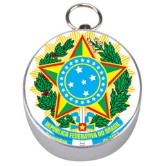 Coat of Arms of Brazil, 1971-1992 Silver Compasses