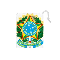 Coat of Arms of Brazil, 1971-1992 Drawstring Pouches (Small)
