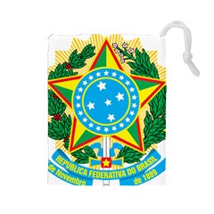 Coat of Arms of Brazil, 1971-1992 Drawstring Pouches (Large)