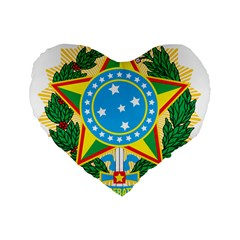 Coat of Arms of Brazil, 1971-1992 Standard 16  Premium Flano Heart Shape Cushions