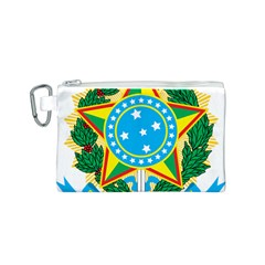 Coat of Arms of Brazil, 1971-1992 Canvas Cosmetic Bag (S)