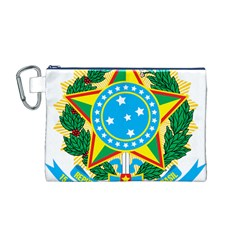 Coat of Arms of Brazil, 1971-1992 Canvas Cosmetic Bag (M)