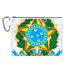 Coat of Arms of Brazil, 1971-1992 Canvas Cosmetic Bag (L)