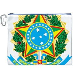 Coat of Arms of Brazil, 1971-1992 Canvas Cosmetic Bag (XXXL)