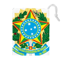 Coat of Arms of Brazil, 1971-1992 Drawstring Pouches (Extra Large)