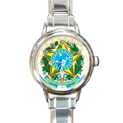 Coat of Arms of Brazil, 1968-1971 Round Italian Charm Watch