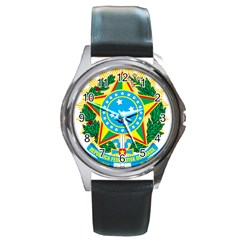 Coat of Arms of Brazil, 1968-1971 Round Metal Watch