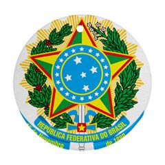 Coat of Arms of Brazil, 1968-1971 Ornament (Round)