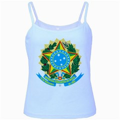 Coat of Arms of Brazil, 1968-1971 Baby Blue Spaghetti Tank