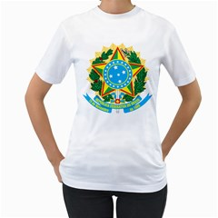 Coat of Arms of Brazil, 1968-1971 Women s T-Shirt (White) (Two Sided)