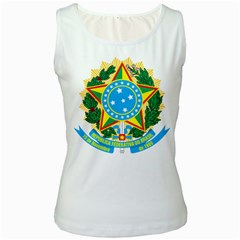 Coat of Arms of Brazil, 1968-1971 Women s White Tank Top
