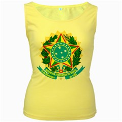 Coat of Arms of Brazil, 1968-1971 Women s Yellow Tank Top