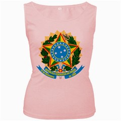Coat of Arms of Brazil, 1968-1971 Women s Pink Tank Top