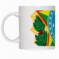 Coat of Arms of Brazil, 1968-1971 White Mugs