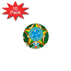 Coat of Arms of Brazil, 1968-1971 1  Mini Buttons (10 pack)