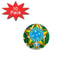 Coat of Arms of Brazil, 1968-1971 1  Mini Magnet (10 pack)