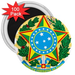 Coat of Arms of Brazil, 1968-1971 3  Magnets (100 pack)