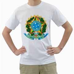 Coat of Arms of Brazil, 1968-1971 Men s T-Shirt (White) (Two Sided)