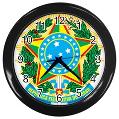 Coat of Arms of Brazil, 1968-1971 Wall Clocks (Black)