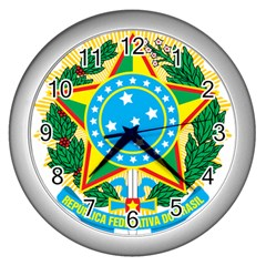 Coat of Arms of Brazil, 1968-1971 Wall Clocks (Silver)