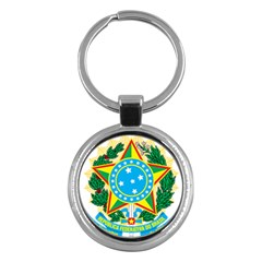 Coat of Arms of Brazil, 1968-1971 Key Chains (Round)