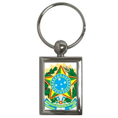 Coat of Arms of Brazil, 1968-1971 Key Chains (Rectangle)
