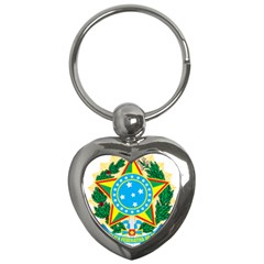 Coat of Arms of Brazil, 1968-1971 Key Chains (Heart)